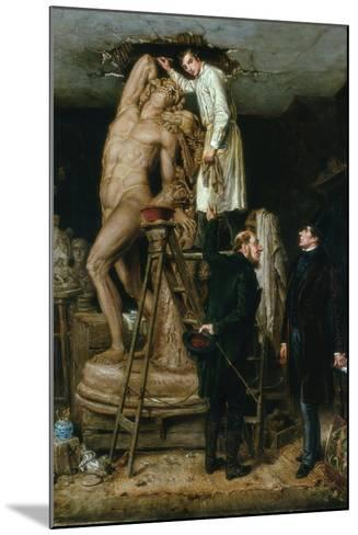 John Graham Lough in His Studio, 1881-Ralph Hedley-Mounted Giclee Print