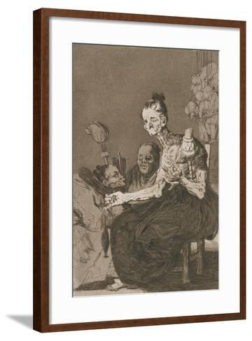 Plate from Los Caprichos, 1797-1798-Francisco de Goya-Framed Art Print