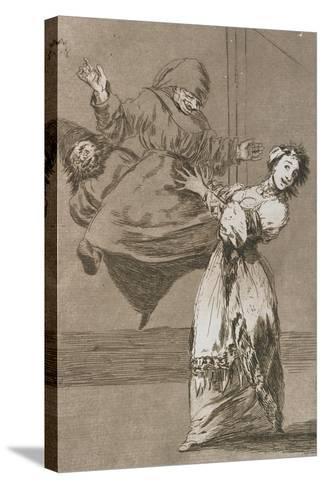 Plate from Los Caprichos, 1797-1798-Francisco de Goya-Stretched Canvas Print