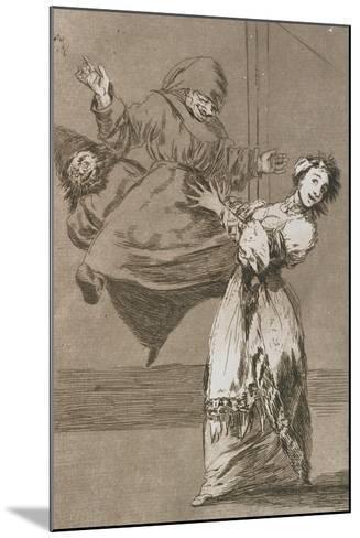 Plate from Los Caprichos, 1797-1798-Francisco de Goya-Mounted Giclee Print