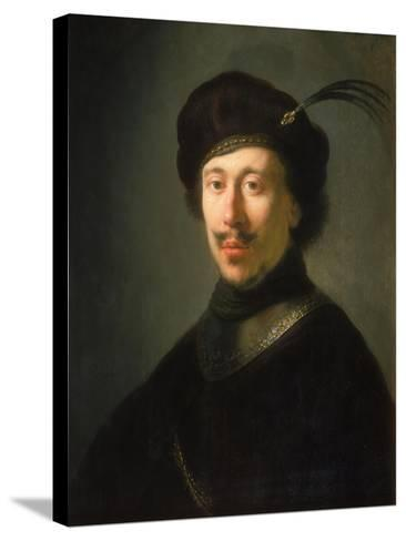 Young Man in a Gorget and Plumed Cap, C.1630-Isaac de Jouderville-Stretched Canvas Print