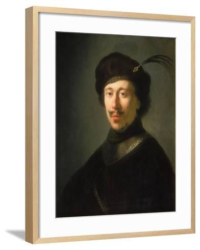 Young Man in a Gorget and Plumed Cap, C.1630-Isaac de Jouderville-Framed Art Print