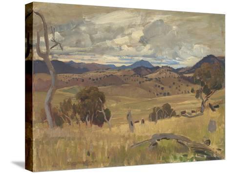 Michelago Landscape, 1923-George Washington Lambert-Stretched Canvas Print