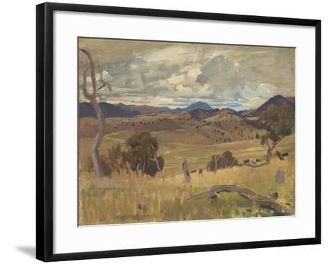 Michelago Landscape, 1923-George Washington Lambert-Framed Art Print