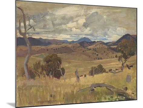 Michelago Landscape, 1923-George Washington Lambert-Mounted Giclee Print