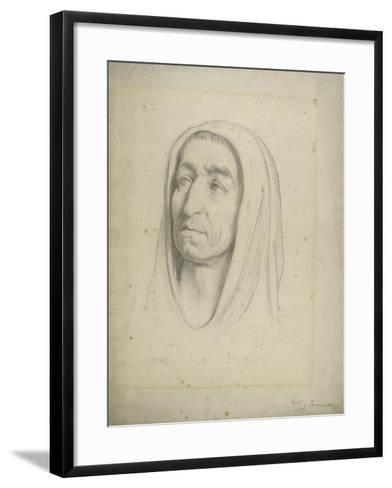 Study of a Male Head with a Hood, 1853-Frederic Leighton-Framed Art Print