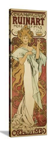 Champagne Ruinart, 1896-Alphonse Mucha-Stretched Canvas Print