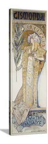 Gismonda, Theatre De La Renaissance, 1894-Alphonse Mucha-Stretched Canvas Print