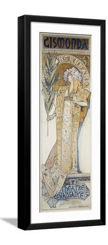 Gismonda, Theatre De La Renaissance, 1894-Alphonse Mucha-Framed Art Print