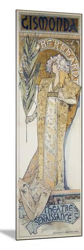 Gismonda, Theatre De La Renaissance, 1894-Alphonse Mucha-Mounted Giclee Print