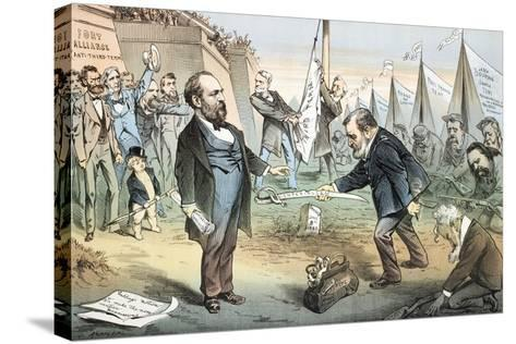 The Appomattox of the Third Termers - Unconditional Surrender, 1880-Joseph Keppler-Stretched Canvas Print