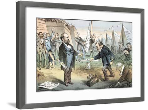 The Appomattox of the Third Termers - Unconditional Surrender, 1880-Joseph Keppler-Framed Art Print