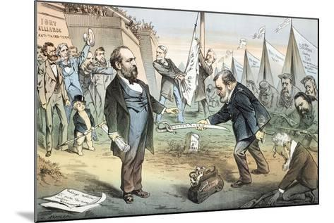 The Appomattox of the Third Termers - Unconditional Surrender, 1880-Joseph Keppler-Mounted Giclee Print