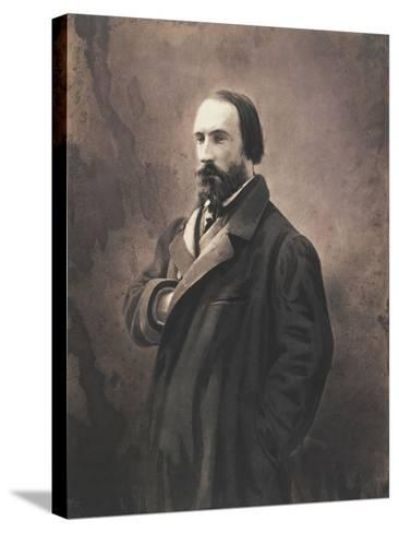 Auguste Vacquerie, C.1865-Nadar-Stretched Canvas Print