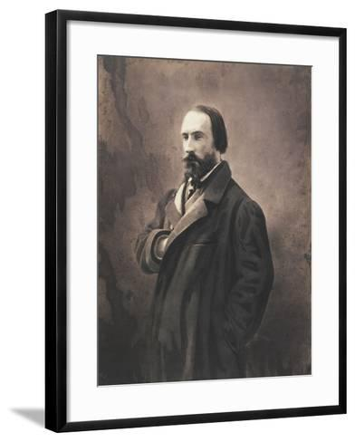 Auguste Vacquerie, C.1865-Nadar-Framed Art Print
