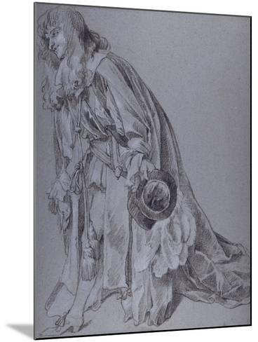 Reverent Figure-Sir Peter Lely-Mounted Giclee Print