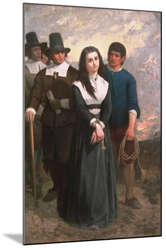 Witch Hill (The Salem Martyr) 1869-Thomas Satterwhite Noble-Mounted Giclee Print