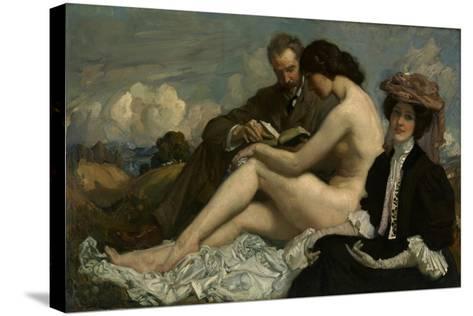The Sonnet, C.1907-George Washington Lambert-Stretched Canvas Print
