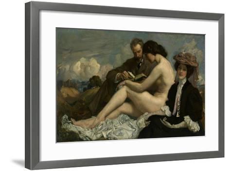 The Sonnet, C.1907-George Washington Lambert-Framed Art Print
