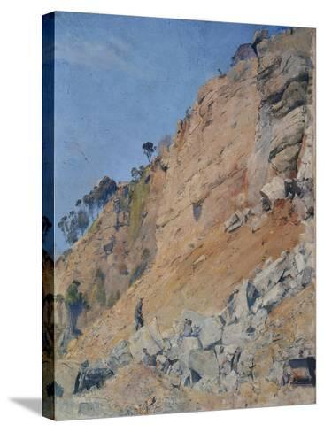 The Quarry, Maria Island, 1926-Thomas William Roberts-Stretched Canvas Print