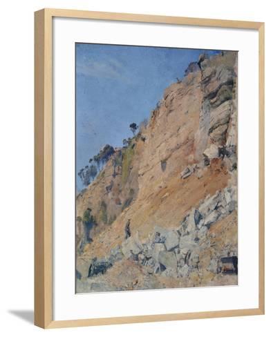 The Quarry, Maria Island, 1926-Thomas William Roberts-Framed Art Print