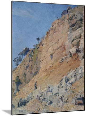 The Quarry, Maria Island, 1926-Thomas William Roberts-Mounted Giclee Print