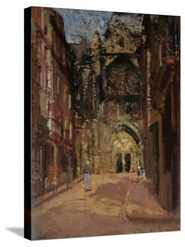 St Jacques, Dieppe, France, C.1900-Walter Richard Sickert-Stretched Canvas Print