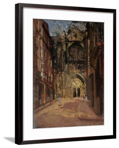 St Jacques, Dieppe, France, C.1900-Walter Richard Sickert-Framed Art Print