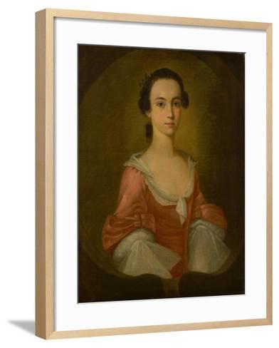Portrait of Mrs. Gardner Greene, 1770-Jeremiah Theus-Framed Art Print