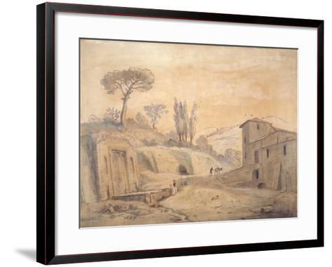 The Antique Fountain and Arch at Grottaferrata, Rome-Gaspar van Wittel-Framed Art Print