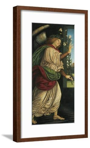 Italy, Varallo, Painting of the Archangel Gabriel--Framed Art Print