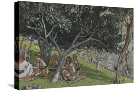Nathaniel under the Fig Tree from 'The Life of Our Lord Jesus Christ'-James Jacques Joseph Tissot-Stretched Canvas Print