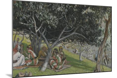 Nathaniel under the Fig Tree from 'The Life of Our Lord Jesus Christ'-James Jacques Joseph Tissot-Mounted Giclee Print