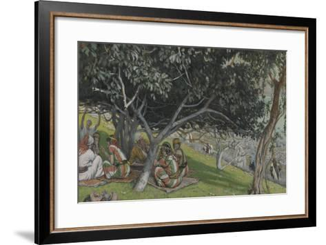 Nathaniel under the Fig Tree from 'The Life of Our Lord Jesus Christ'-James Jacques Joseph Tissot-Framed Art Print