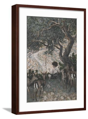 The Childhood of Saint John the Baptist from 'The Life of Our Lord Jesus Christ'-James Jacques Joseph Tissot-Framed Art Print
