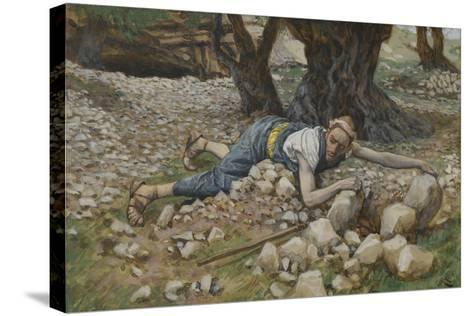 The Hidden Treasure from 'The Life of Our Lord Jesus Christ'-James Jacques Joseph Tissot-Stretched Canvas Print