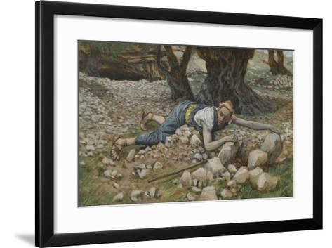 The Hidden Treasure from 'The Life of Our Lord Jesus Christ'-James Jacques Joseph Tissot-Framed Art Print