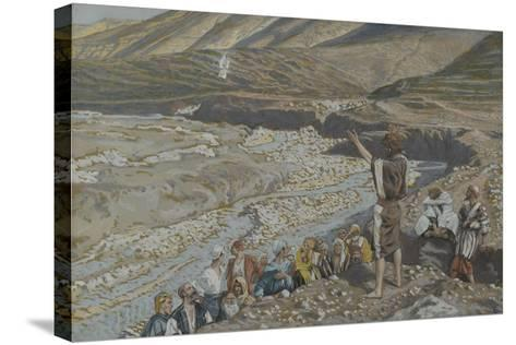 Saint John the Baptist Sees Jesus from Afar from 'The Life of Our Lord Jesus Christ'-James Jacques Joseph Tissot-Stretched Canvas Print