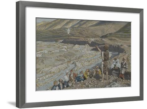 Saint John the Baptist Sees Jesus from Afar from 'The Life of Our Lord Jesus Christ'-James Jacques Joseph Tissot-Framed Art Print