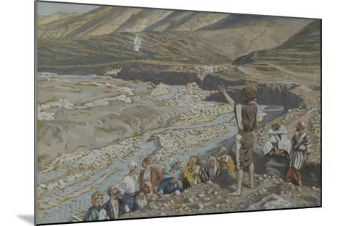 Saint John the Baptist Sees Jesus from Afar from 'The Life of Our Lord Jesus Christ'-James Jacques Joseph Tissot-Mounted Giclee Print
