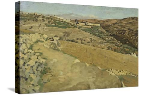 Jerusalem and Siloam, South Side from 'The Life of Our Lord Jesus Christ'-James Jacques Joseph Tissot-Stretched Canvas Print