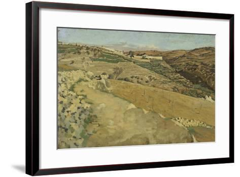 Jerusalem and Siloam, South Side from 'The Life of Our Lord Jesus Christ'-James Jacques Joseph Tissot-Framed Art Print
