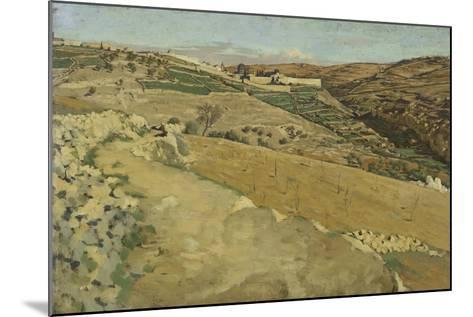 Jerusalem and Siloam, South Side from 'The Life of Our Lord Jesus Christ'-James Jacques Joseph Tissot-Mounted Giclee Print