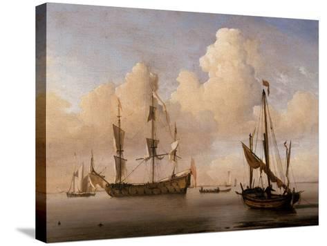 Seascape-Willem Van De Velde The Younger-Stretched Canvas Print