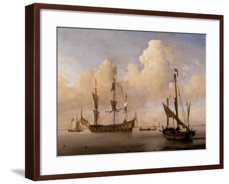 Seascape-Willem Van De Velde The Younger-Framed Art Print