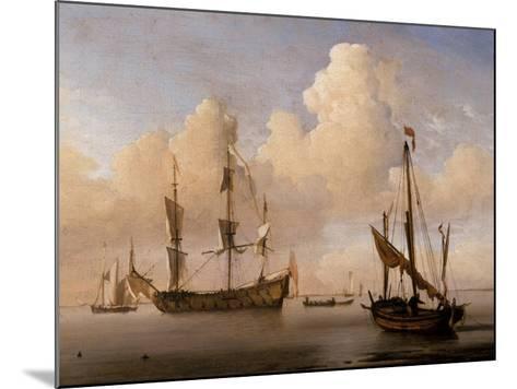 Seascape-Willem Van De Velde The Younger-Mounted Giclee Print