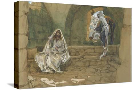 The Woman of Samaria at the Well from 'The Life of Our Lord Jesus Christ'-James Jacques Joseph Tissot-Stretched Canvas Print