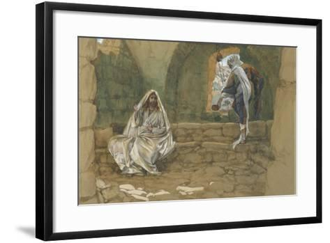 The Woman of Samaria at the Well from 'The Life of Our Lord Jesus Christ'-James Jacques Joseph Tissot-Framed Art Print