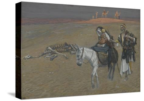 The Flight into Egypt from 'The Life of Our Lord Jesus Christ'-James Jacques Joseph Tissot-Stretched Canvas Print