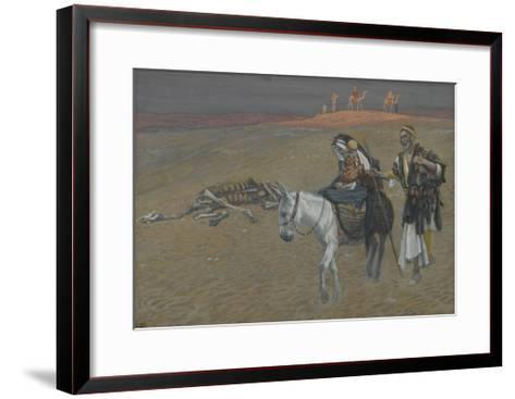 The Flight into Egypt from 'The Life of Our Lord Jesus Christ'-James Jacques Joseph Tissot-Framed Art Print